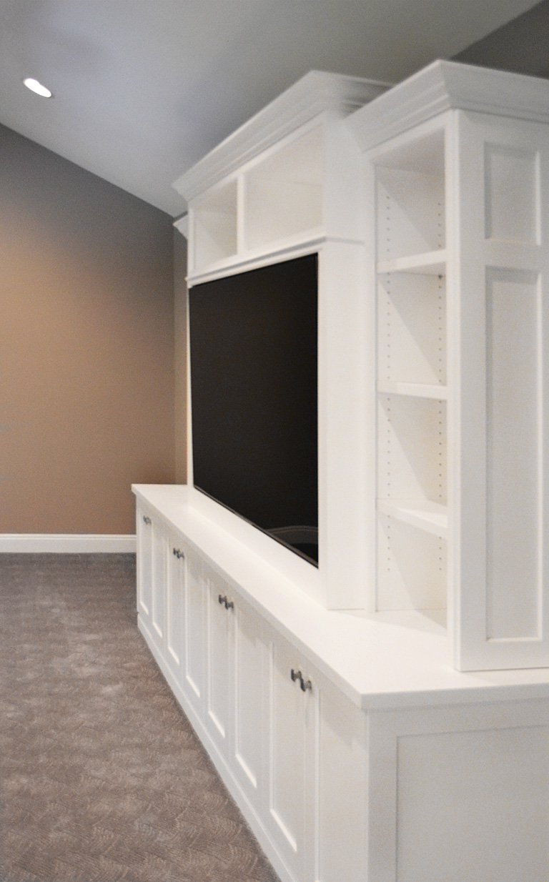 David Williams Design Custom Media Room Cabinetry Design